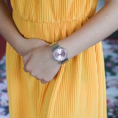 Little Miss Fabulous Armbanduhr mit einem Stahlband