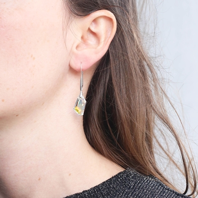 Ohrringe aus 925 Silber, Swarovski-Kristall AB