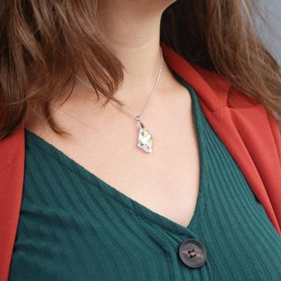 Zilveren ketting&hanger Swarovski kristal AB__1057933__1