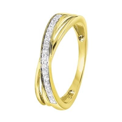 14 Karaat geelgouden ring met diamant__1043121__0