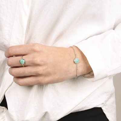 Zilveren armband Gemstone amazonite