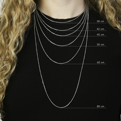 Eve goldplated ketting hart met zirkonia