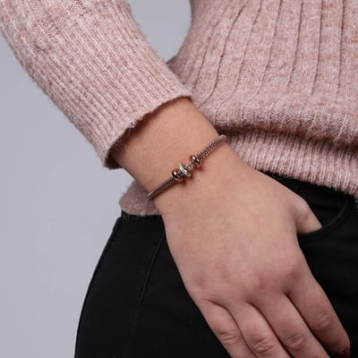 Stalen armband mesh roseplated met kristal__1058698__1