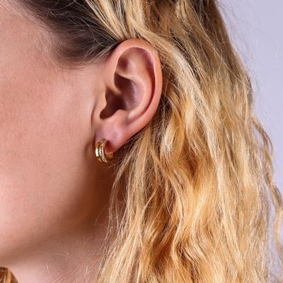 Stalen oorbellen goldplated light colorado kristal__1058865__1