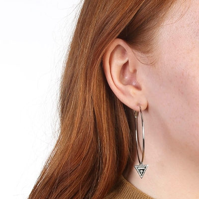Guess stalen oorbellen triangle 50mm__1059135__1