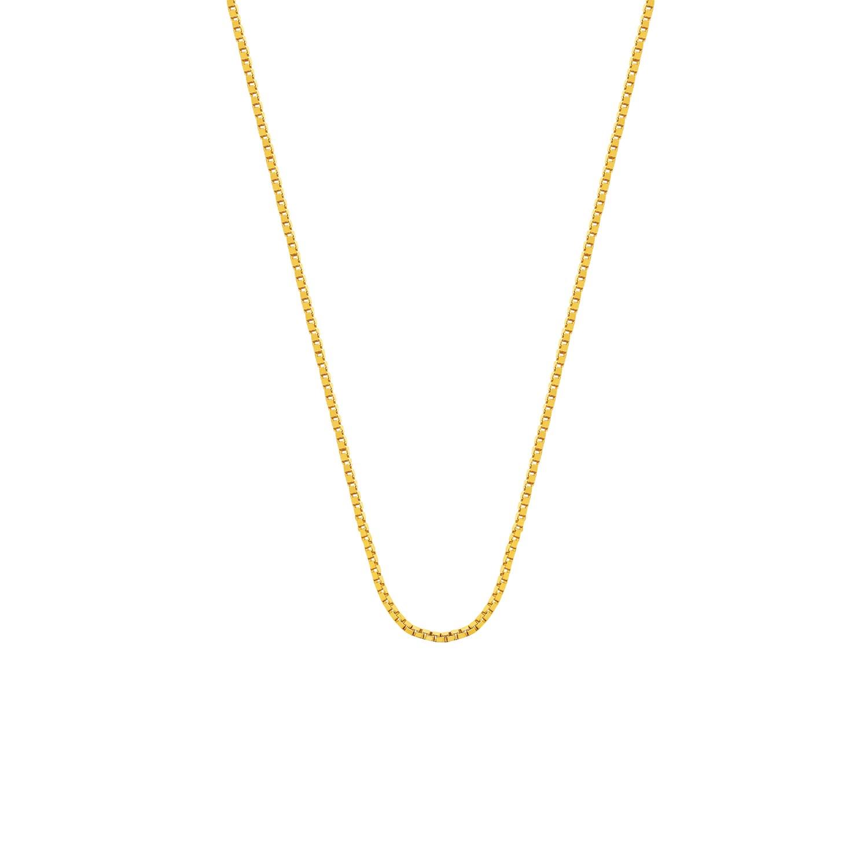 Eve gold plated ketting met venetiaanse schakel