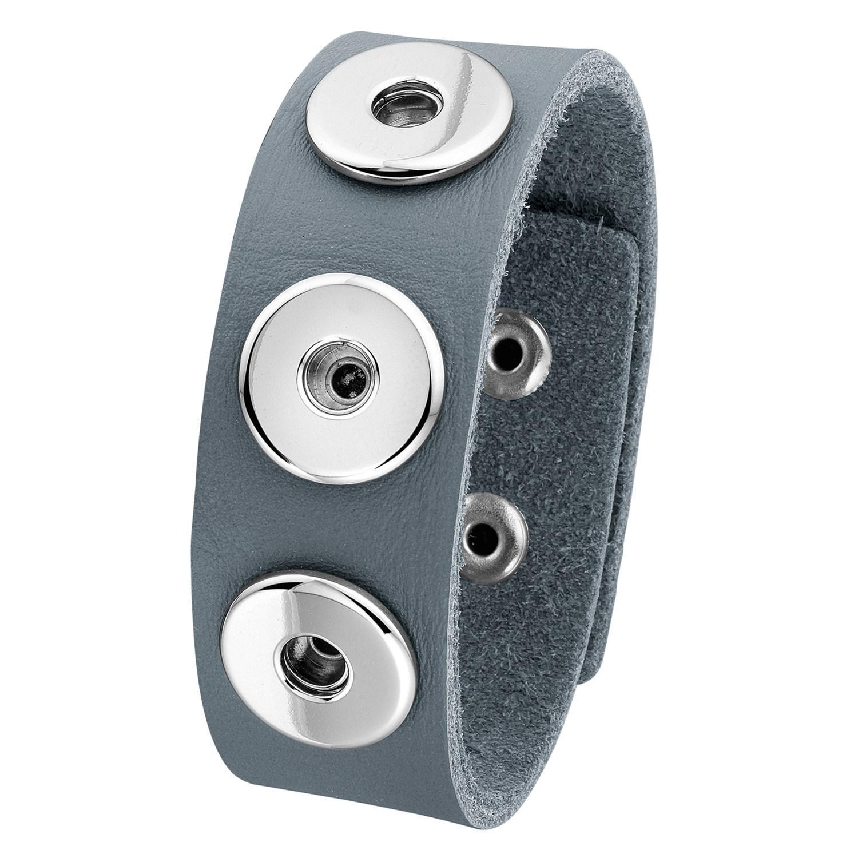 Stalen chunks armband grijs