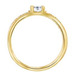Vergoldeter Verlobungsring aus Stahl Florence Zirkonia__1028484__3__thumb