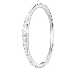 14 Karaat witgouden ring met diamant (0,06ct)__1047312__2__thumb
