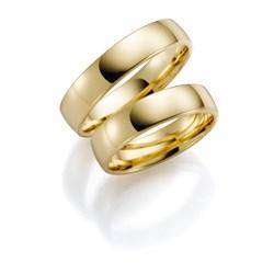 Pfingstrose, gelbgoldener Trauring für Herren, 14 Karat, H56__1006372__0__thumb