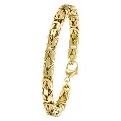 Gold plated herenarmband met koningsschakel 21cm__1012444__0__thumb