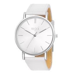 Regal horloge Slimline witte leren band R16280-19__1013301__0__thumb
