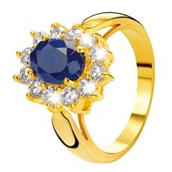 Vergoldeter Eve Ring mit Saphir und Zirkonia__1013478__0__thumb