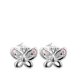Silberne Kinderohrringe Schmetterling rosa mit Zirkonia__1017912__0__thumb
