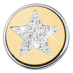 Stalen chunk kristal ster goldplated__1018408__0__thumb