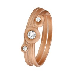 Rotvergoldetes Ringset von Eve mit 3 Ringen mit Zirkonia__1019282__0__thumb