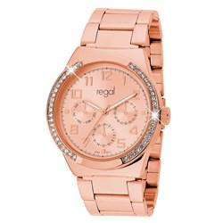 Regal-Uhr Elegant mit rotgoldenem Band R1328R-032__1019338__0__thumb
