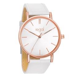 Regal-Uhr Slimline mit weißem Lederband R1628R-19__1020194__0__thumb
