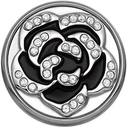 Stalen chunk roos zwart met kristal__1020257__0__thumb