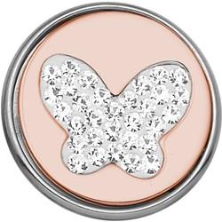 Stalen chunk vlinder met kristal roseplated__1020263__0__thumb