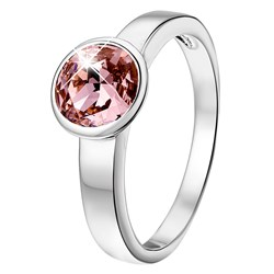 Ring in 925 Silber mit antiken rosa Swarovski-Kristallen__1020837__0__thumb