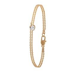 Eve Goldplated armband 2rij met hart met zirkonia__1023285__0__thumb