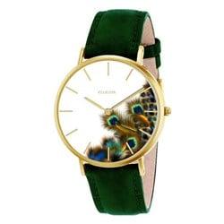 Clueless horloge met groene leren band__1043565__0__thumb