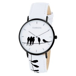 Clueless-Uhr mit weißem Lederarmband__1043577__0__thumb