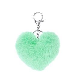 Byoux sleutelhanger fluffy hart mint__1050299__0__thumb