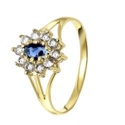 Entourage-Ring aus 375 Gold mit weißem/blauem Zirkonia__1050461__0__thumb