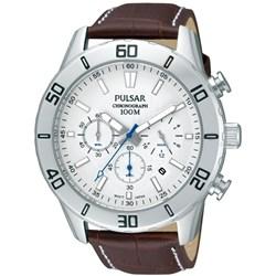 Pulsar leren heren chronograaf horloge PT3433X1__1053404__0__thumb