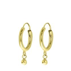 Vergoldete Ohrringe mit Kugelanhänger__1056089__0__thumb