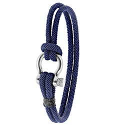 Stalen armband blauw stof__1056687__0__thumb