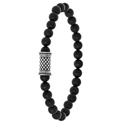 Stalen jongensarmband natuursteen black agate__1056855__0__thumb