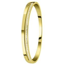 Stalen armband bangle gold wit kristal__1057348__0__thumb
