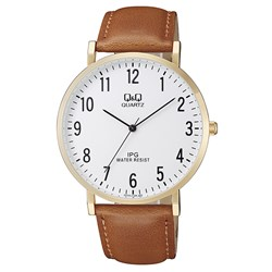 Q&Q Armbanduhr mit Lederarmband__1057827__0__thumb