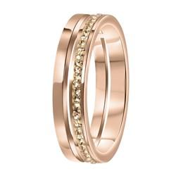 Stalen ring roseplated 2rij met light peach__1058711__0__thumb
