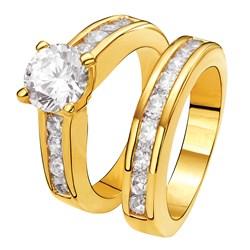 Vergoldeter 2-teiliger Eve Ring mit Zirkonia__1012594__0__thumb