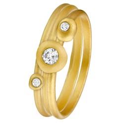 Vergoldetes Vintage-Ringset von Eve mit 3 Ringen mit Zirkonia__1019281__0__thumb