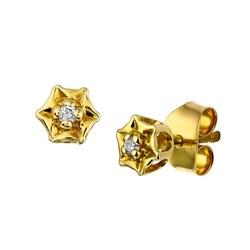Gelbgold-Ohrringe in Sternform mit Diamanten__1022903__0__thumb