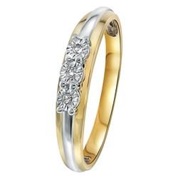 Bicolor gouden ring met diamant 0,03ct__1031013__0__thumb