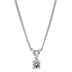 Halskette in 925 Silber mit Charms Swarovski-Zirkonia 4 mm__1030205__0__thumb