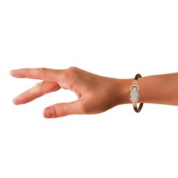 Stalen armband leer bruin/rose met kristal__1031230__2__thumb