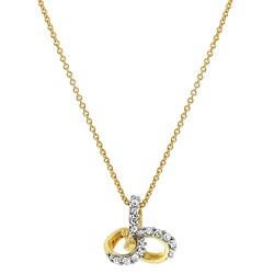 Gelbgoldene Halskette mit Diamant 0,07 ct__1031018__0__thumb
