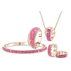 Stalen oorbellen roseplated roze kristal__1034075__1__thumb