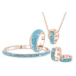 Stalen oorbellen roseplated aqua kristal__1034080__1__thumb