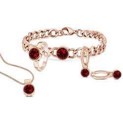 Stalen armband roseplated met ruby zirkonia__1034040__1__thumb