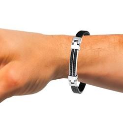 Stahlmänner Armband mit Gummikabel schwarz__1036989__1__thumb