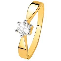 Geelgouden  solitair ring met diamant (0,40ct.)__1037199__0__thumb