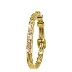 Stalen armband goldplated mesh riem met kristal__1043444__0__thumb